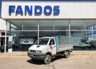 Used Van IVECO 35-10W with open box, year 1990. 4x4
