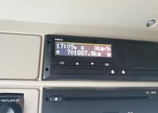 Cabeza tractora IVECO AS440S46TP,  Hi Way,  Euro6,  Automática con intarder,  Del año 2015,  Con 701.888km. Neumáticos 315/70R22.5 Carenados laterales. Equipo de frio nocturno.  Precio 15.000€+IVA, con tractora SIN  reacondicionar y SIN garantía.  Precio 17.500€+IVA, con tractora reacondicionada y SIN garantía.