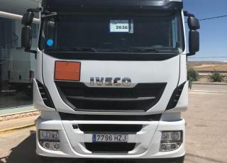 ¿Quieres una tractora con una cuota mensual muy reducida?  Cabeza tractora seminueva IVECO Hi Way AS440S46T/P, automática con intarder, con ADR completo, de 2014, con 265.833km, tu eliges el tipo de garantía.