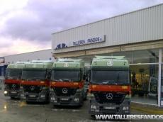 12 Cabezas tractoras Mercedes 1846LS del año 2005 cambio EPS con intarder.