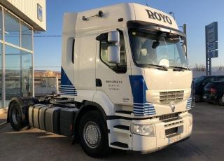 Cabeza tractora RENAULT PREMIUM 460.18T, automática con intarder, del año 2013, con 801.757km