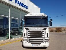 Cabeza tractora de ocasión marca Scania modelo G400, automático (dos pedales) con intarder, año 2011, 783.153km, con cama.