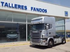 Cabeza tractora de ocasión marca Scania modelo R420 Euro 4, opticruise con intarder, año 2007, 1.384.333km.
