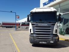Cabeza tractora de ocasión marca Scania modelo R420, Opticruise con intarder, año 2009, 1.020.615km, con cama.