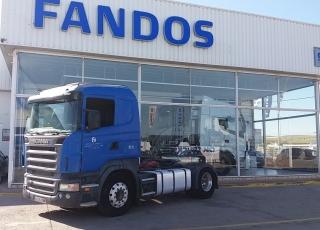 Cabeza tractora de ocasión marca Scania modelo R420, Opticruise con intarder, año 2006, 1.148.837km. Precio sin impuestos.