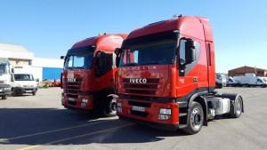 Entrega de 2 cabezas tractoras de ocasión  IVECO AS440S42TP del 2012,  para Huesca.