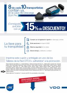 Oferta llave de descarga en Talleres Fandos DTCO
