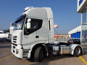 Entrega de cabeza tractora de ocasión IVECO AS440S50TP automática con intarder para nuestro amigo Miguel de Monserrat, Valencia.