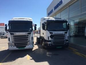 Entrega de 2 cabezas tractoras Scanias G400 del año 2011 que se van a Mohammedia, Marruecos.