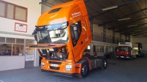Ayer estuvimos en la caravana en nuestro Taller Autorizado de Alcañiz, Talleres Autobasas.