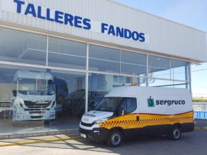 Entrega de furgón IVECO 35S15V de 12m3 para Sergruco, SL.