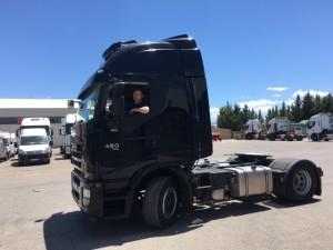 Entrega de tractora de ocasión IVECO AS440S46TP automatica con intarder del año 2013, para nuestro amigo Emilio de Alcañiz Teruel.