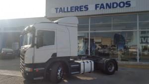 Entrega de cabeza tractora Scania de ocasión modelo P400 del año 2012 en Segovia.