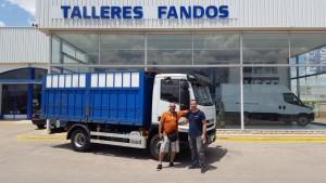 Entrega de IVECO Eurocargo de ocasión ML100E22K con caja basculante para nuestro amigo Salvatore de Italia.