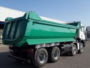 Entrega de dumper de ocasión marca MAN modelo TGA 41.430 8x4.