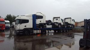 Otros 3 Scanias de ocasión que se van para Iraq, como siempre optimizando la logística de nuestros clientes.