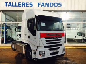 Entrega de tractora de ocasión  IVECO AS440S46TP automatica con intarder  del año 2013  para nuestros amigos de Teruel.