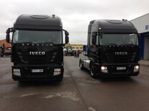 Entrega de 2 cabezas tractoras de ocasión IVECO AS440S46TP automáticas con intarder. . Gracias por seguir confiando en Talleres Fandos para la compara de vuestros vehículos de ocasión.