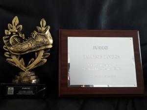 Galardón mejor Concesionario IVECO en Gestión Pre-Owned del año 2016.