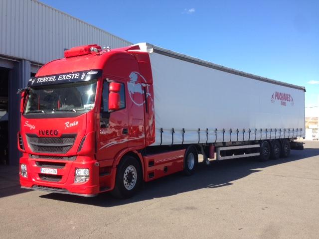 Hace unos días entregamos esta bonita cabeza tractora de ocasión IVECO AS440S46 Hi Way, en nuestro centro Ok Trucks de Teruel, a nuestro amigo Manuel Puchades