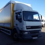Entrega de camión de ocasión marca DAF