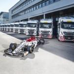 IVECO, proveedor oficial de camiones y furgonetas del equipo Alfa Romeo Racing de fórmula 1
